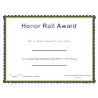 Honor Roll Award
