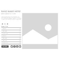 Band WebSite Wireframe