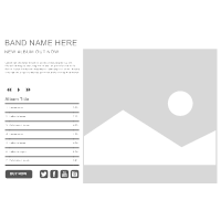 Band WebSite Wireframe