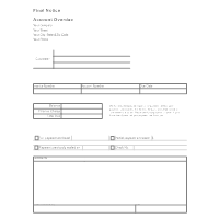 Final Notice Form - Account Due