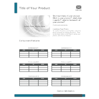 Product Sheet Template 1