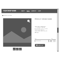 Product Page Wireframe
