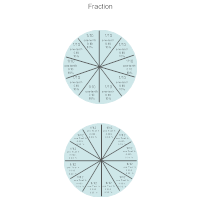 Math Diagram - One Tenth & One Twelfth Fractions