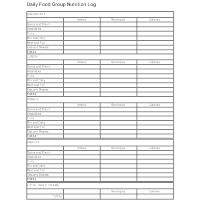 Daily Food Group Log