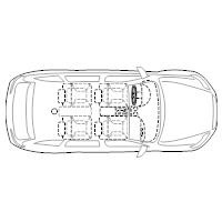 4-Door Compact Car - 2 (Elevation View)