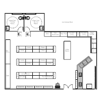Store layout examples for Auto floor plan software