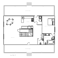 House Plan ExamplesHouse Plan   Cape Style