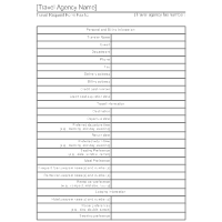 Travel Agency Form