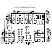 Nursing home floor plan examples for Retirement home plans small