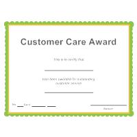 Customer Care Award