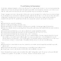 Food Safety & Sanitation