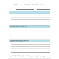 Substance Use Consequences Recall Worksheet