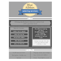 Catering Services Flyer