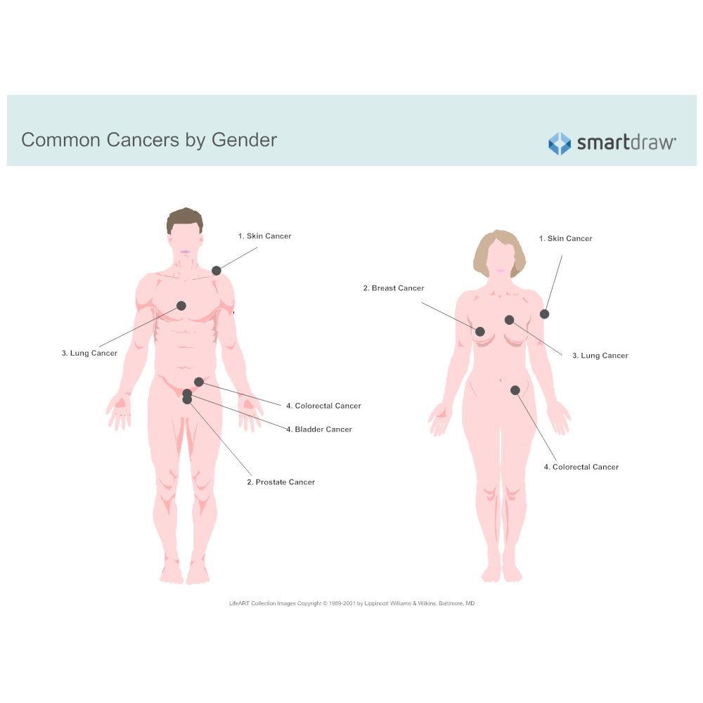 Example Image: Common Cancers by Gender