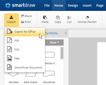 MS Office Integration for SmartDraw