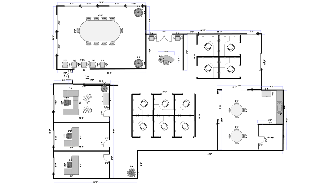 Smartdraw create flowcharts floor plans and other for Draw floor plan online