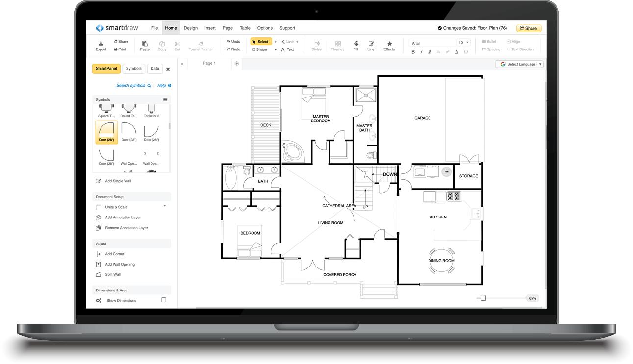 Floor plan template