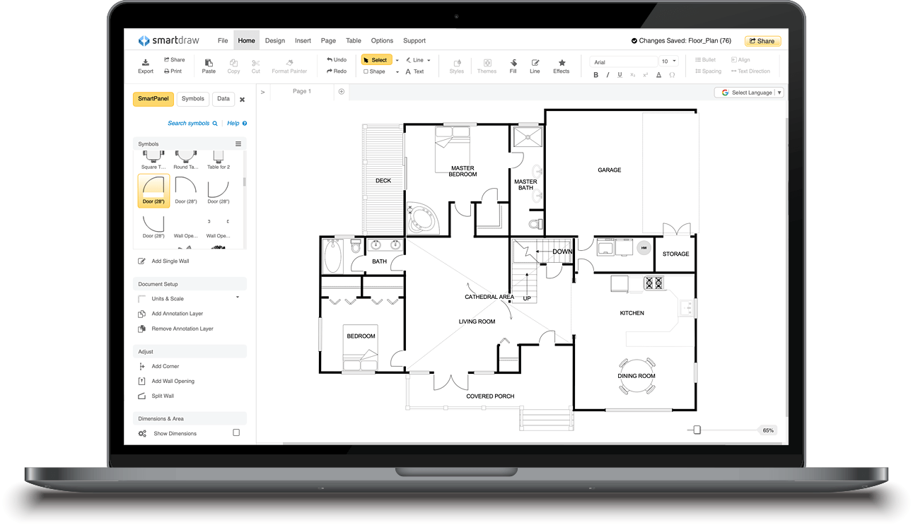 Smartdraw Create Flowcharts Floor Plans And Other Diagrams On Any Device