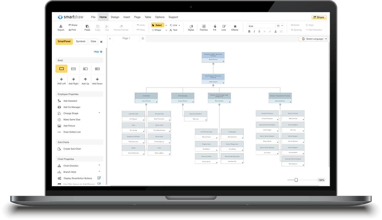 Smartdraw Create Flowcharts Floor