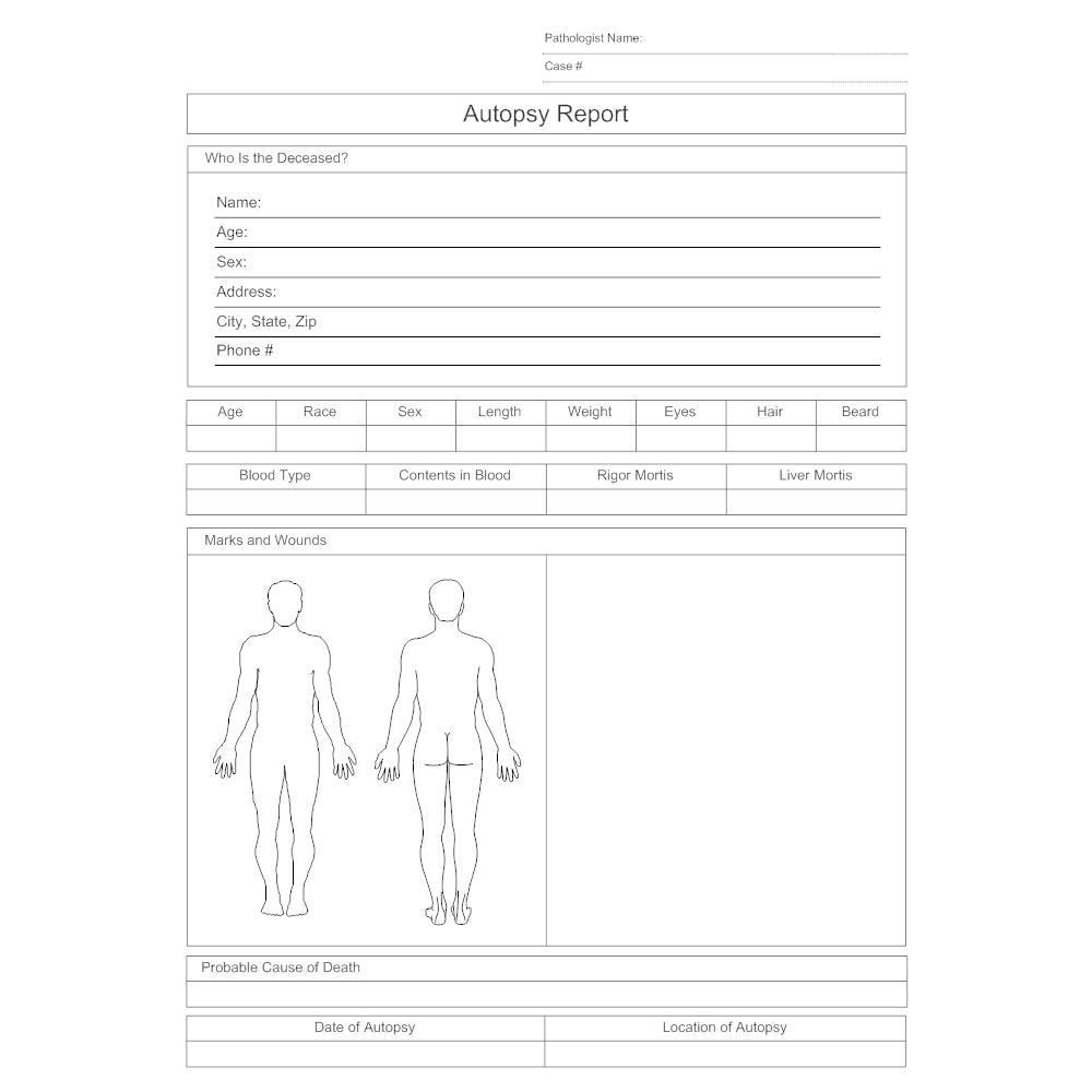 Autopsy report for Smartdraw certificate templates