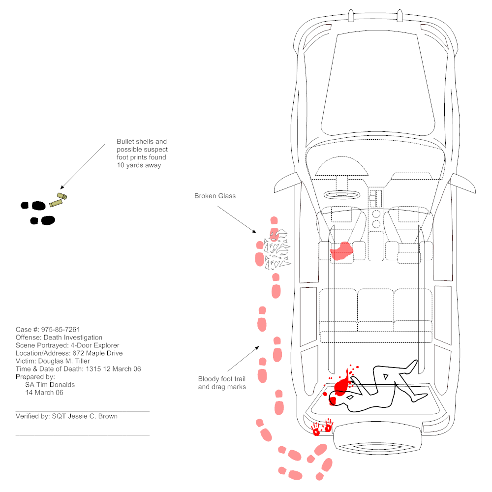 accident scene diagram