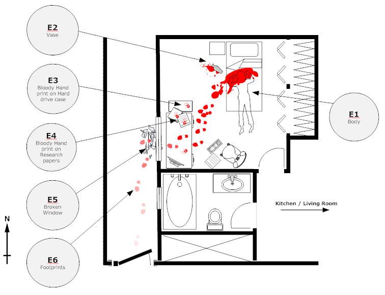 Crime scene diagram example