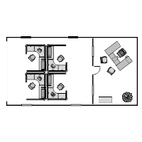 Small Office - Cubicle Floor Plan Example
