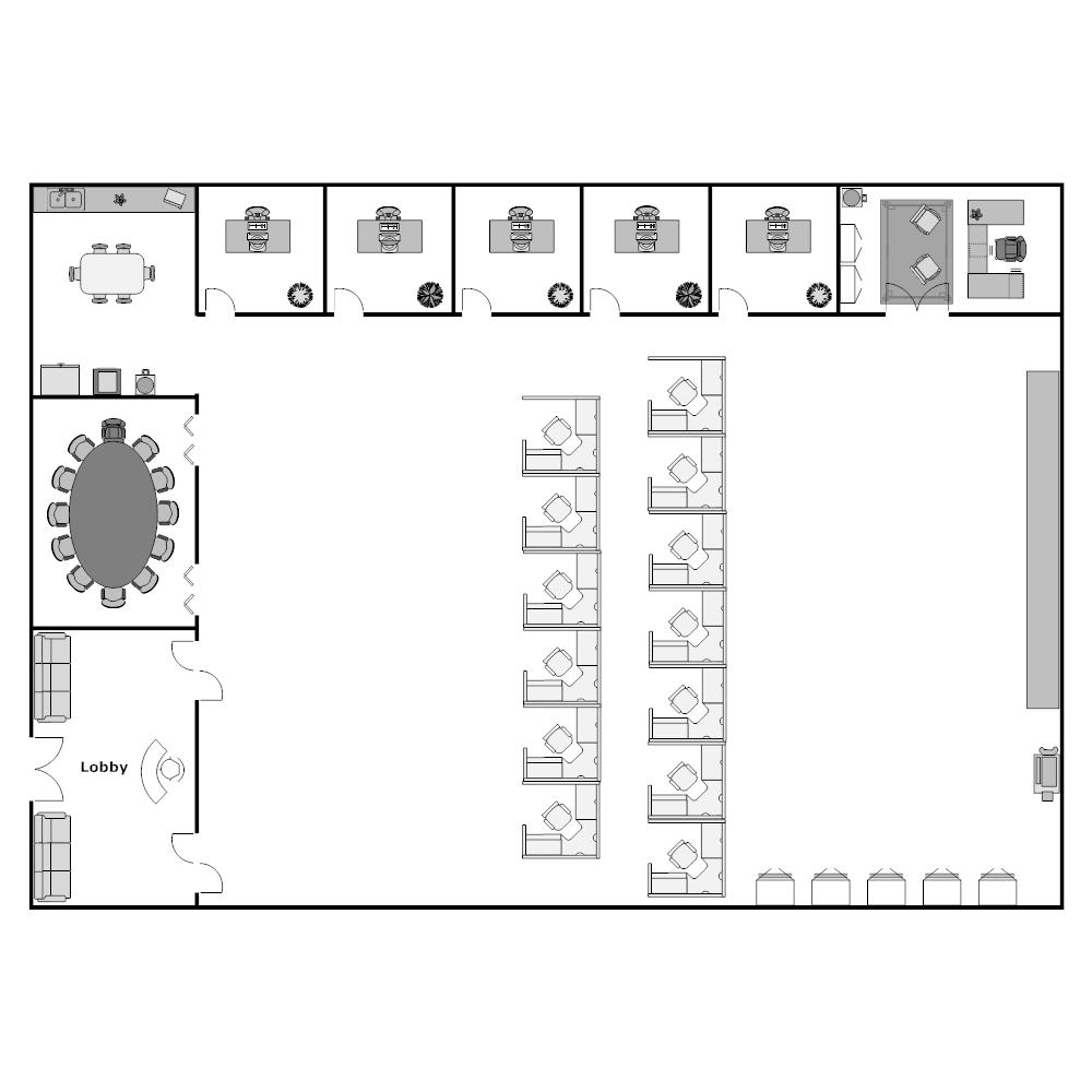 Example Image: Cubicle Layout Plan