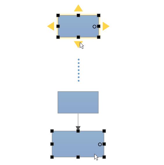 Automatically add data flow shape