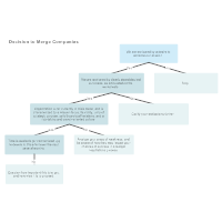 Company Merger Decision Tree