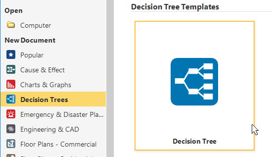 Decision tree template