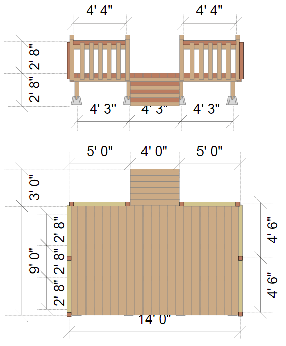 Great Interesting Deck Elevation With Patio Planner App