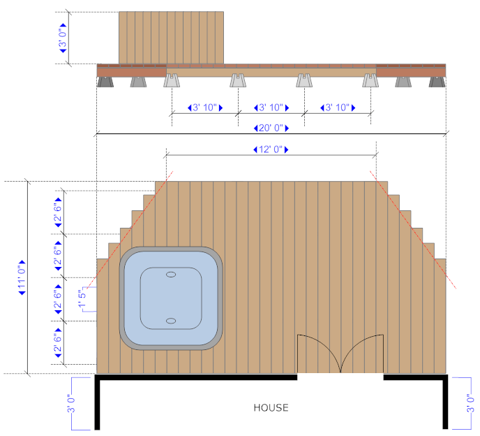 House deck example