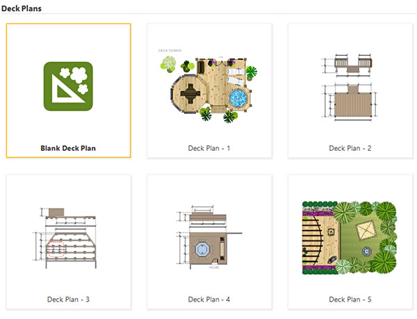 Deck design templates