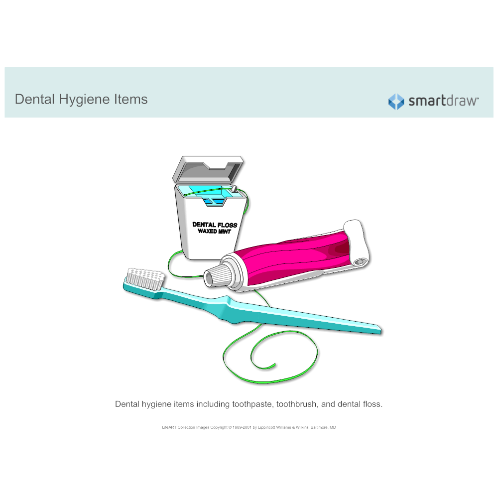 Example Image: Dental Hygiene Items