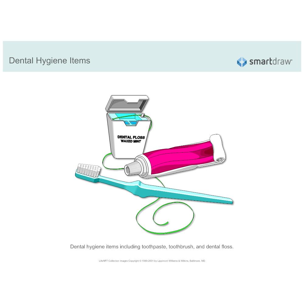 Example Image: Dental Hygiene Items