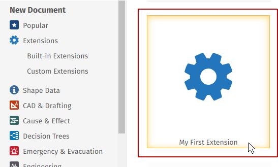 Running an extension