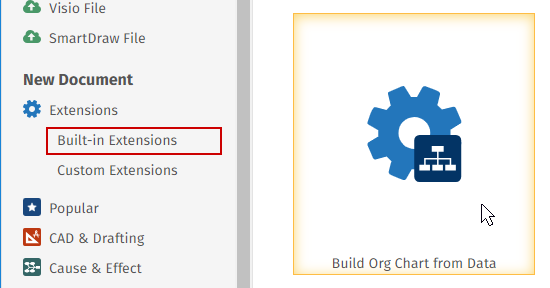 Launch the org chart extension