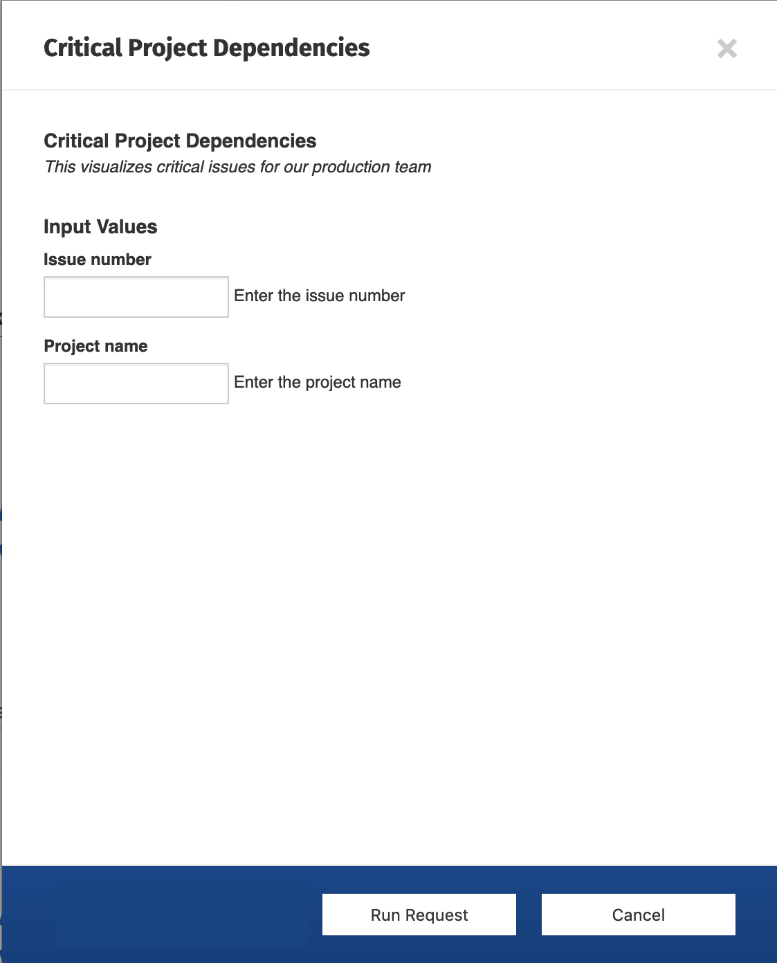 End user form for extension