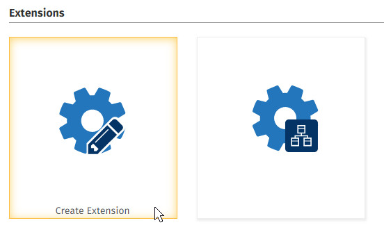 Create a new extension