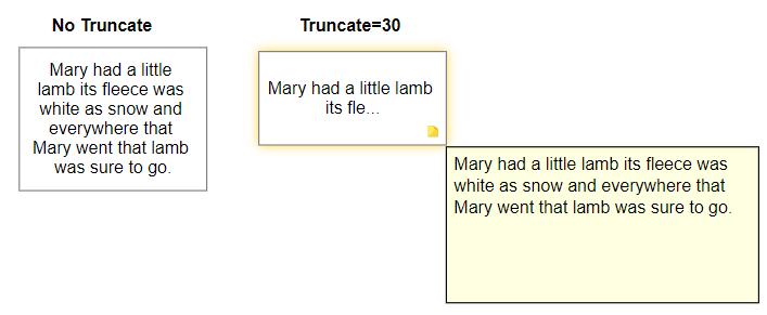 VisualScript set text truncate