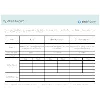 My ABCs Record