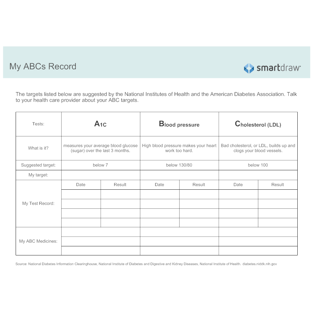 Example Image: My ABCs Record