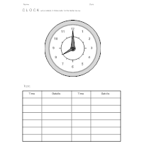 Clock - Educational Worksheet