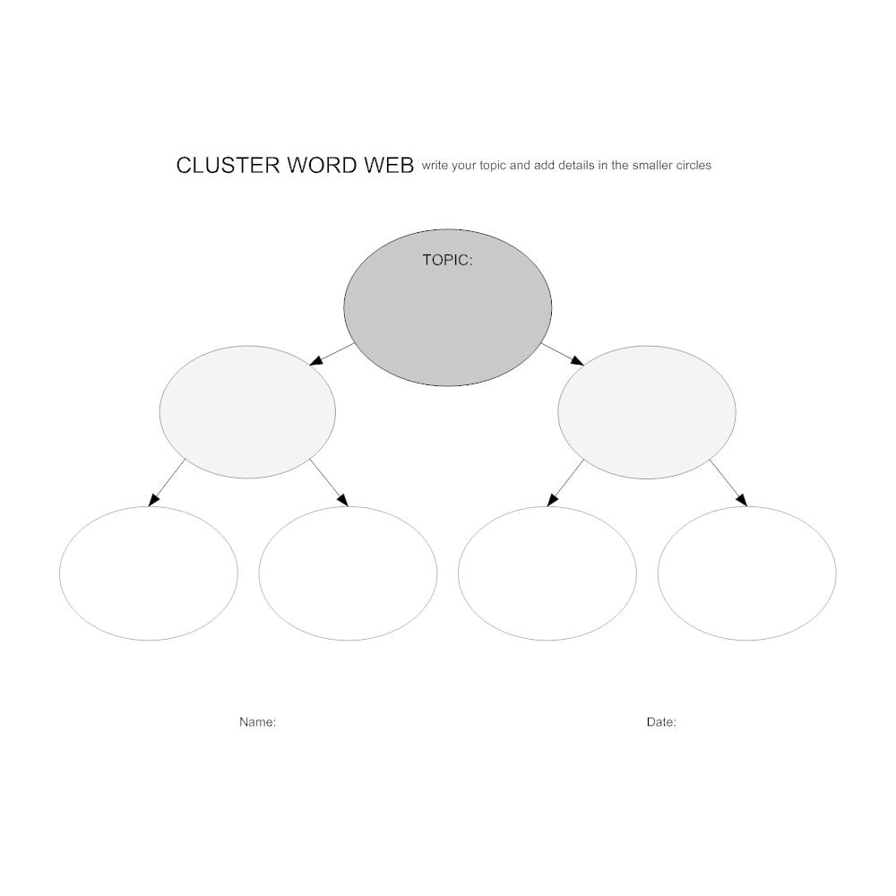 Example Image: Cluster Word Web Worksheet