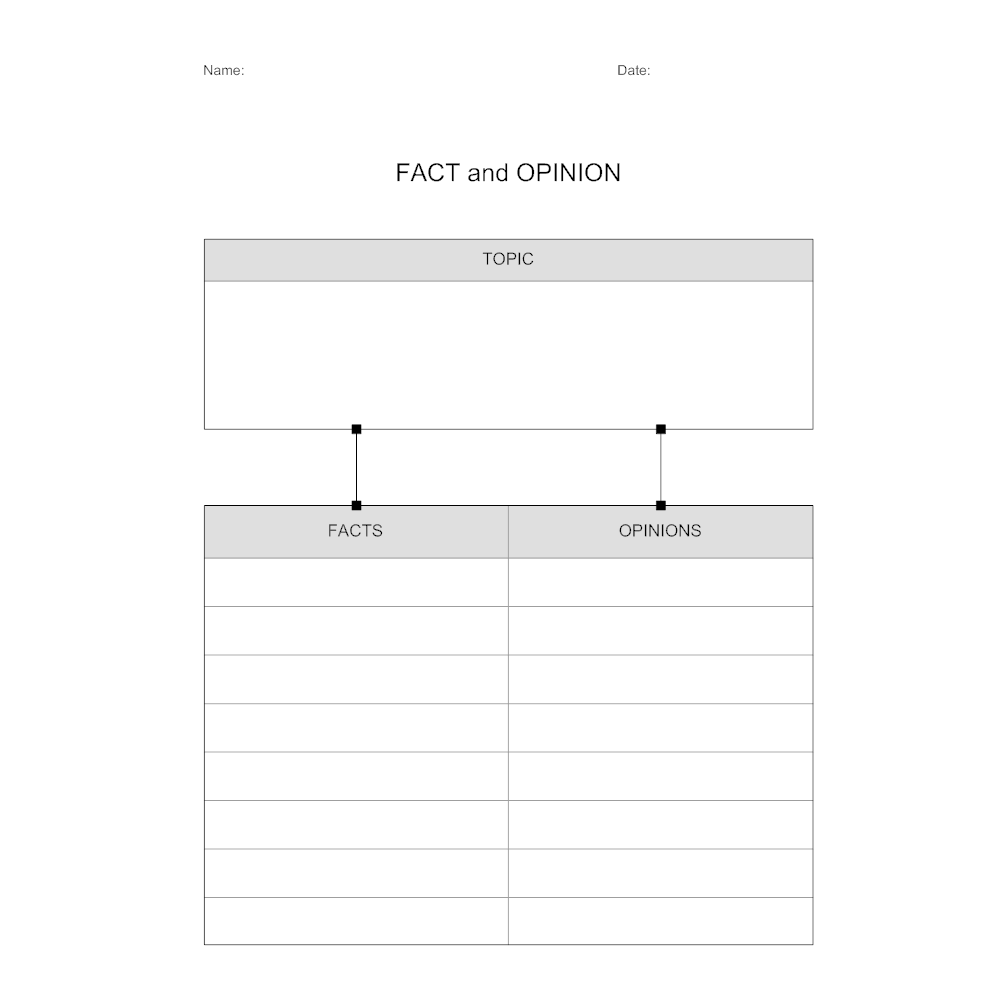Example Image: Fact and Opinion Worksheet