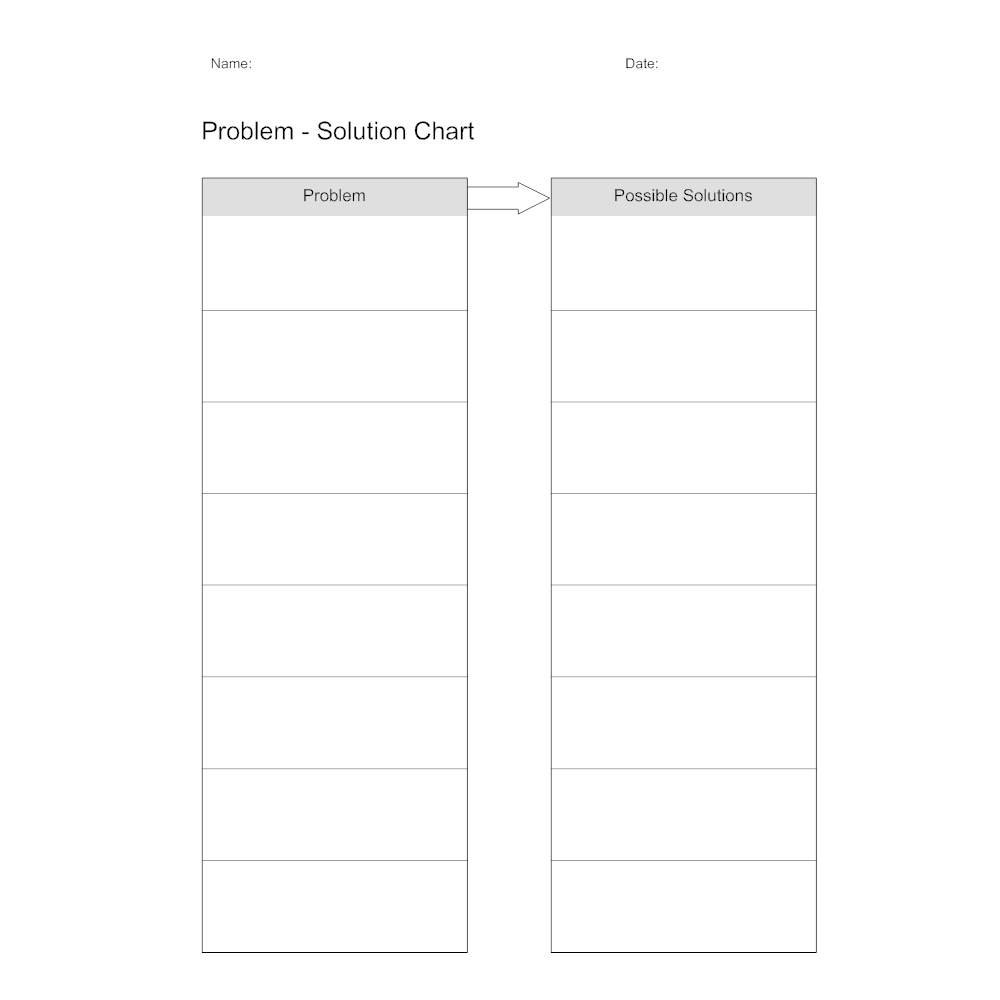 Example Image: Problem-Solution Chart