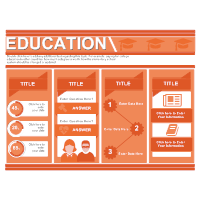 Education Infographic with Columns