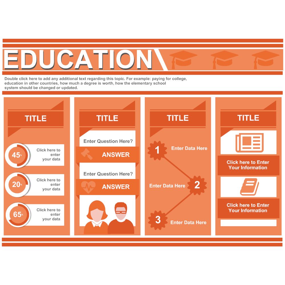 Example Image: Education Infographic with Columns