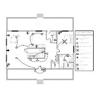 electrical plan examples rh smartdraw com House Breaker Box Wiring Diagram House Breaker Box Wiring Diagram